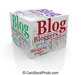 3d cube word tags wordcloud of blog