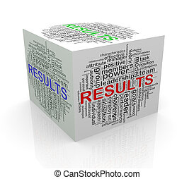 3d cube word tags wordcloud of results