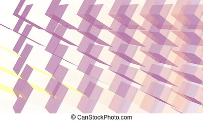3d cubes abstract geometric illusion background. Rotating, spinning cubes. VJ Seamless loop