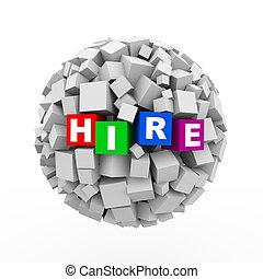 3d cubes boxes sphere ball - hire