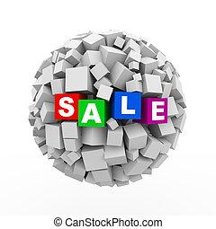 3d cubes boxes sphere ball - sale