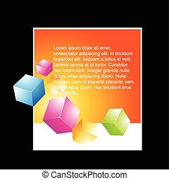 3d cubes design
