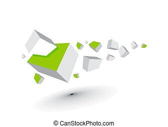 3d cubes - 3d composition of cubes, eps10 vector...