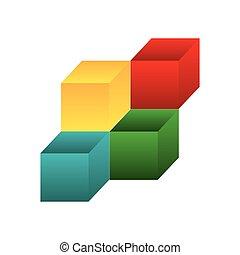 3d cubes icon