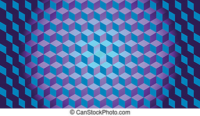 3D Cubes Illusion Background