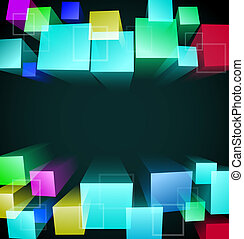 3d cubic abstract background