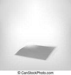3d, cubo blanco