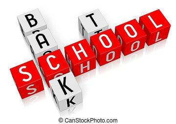 3d, cubos, conceito, -, apoie escola