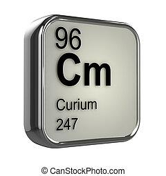 3d Curium element - 3d render of curium element design