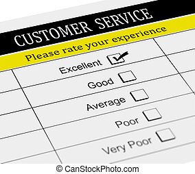 3d customer service evaluation form