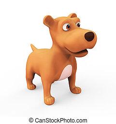 3d Cute cartoon dog - 3d render of a cute cartoon character ...