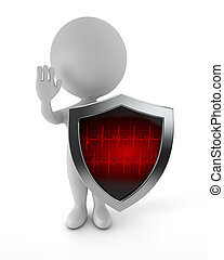 3d cute people - medical protection - 3d cute people -...