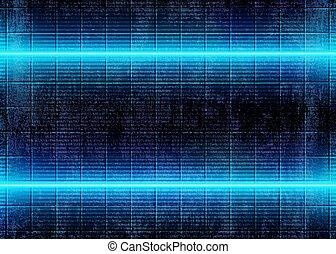 3d, cyberpunk, ライト, ネオン, 白熱, 背景, 未来派
