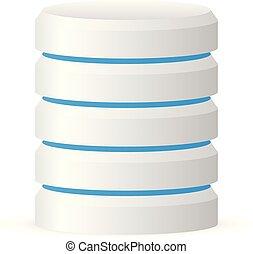 3d cylinder. Datacenter, webhosting, hard disk icon