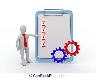 3d, człowiek, checklist, i, mechanizmy