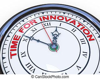 3d, czas, dla, innowacja, zegar