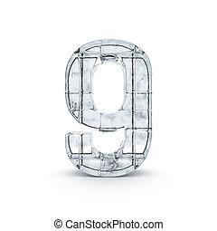 3d, dígito, feito, ice., saída