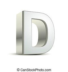 3d, d, 手紙, 銀