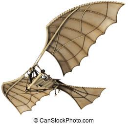 3d Da Vinci Ornithopter Flying Machine - Da vinci...