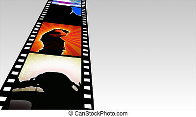 3d Dancing Film Reel 3