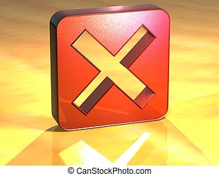 3D Danied Access Red Sign