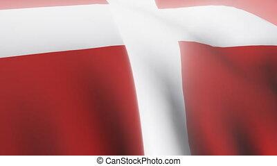 3d Danish flag