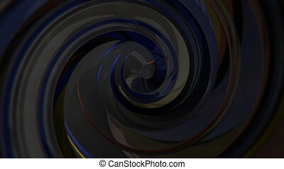 3D Dark Swirl - 3D dark swirl seamless loop video background
