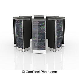 3d data network computer servers