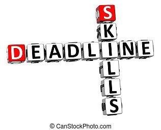 3D Deadline Skills Crossword