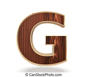 3D decorative wooden Alphabet, capital letter G