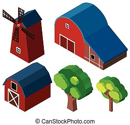 3D design for barns and windmill