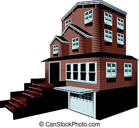 3D design for big house with garage