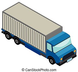 3D design for blue lorry truck