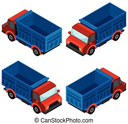 3D design for blue truck