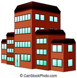 3D design for building in brown color