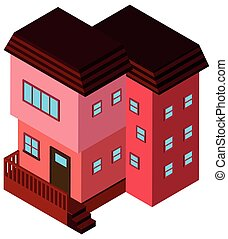 3D design for building in pink color