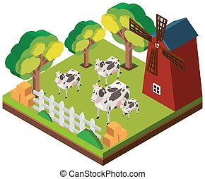 3D design for cows in the farm