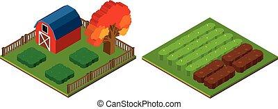 3D design for farmyard and barn