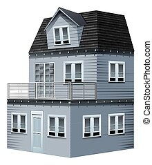 3D design for gray house