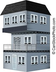 3D design for house painted in gray
