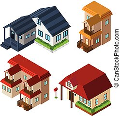 3D design for houses in different style