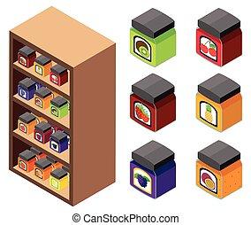 3D design for jams on the shelves