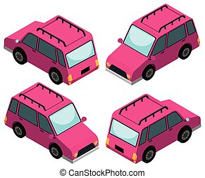 3D design for pink cars