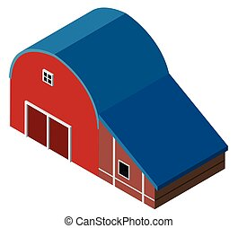 3D design for red barn