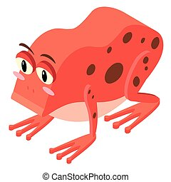 3D design for red frog