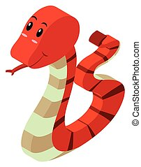 3D design for red rattlesnake