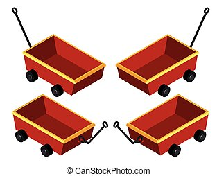 3D design for red wagons