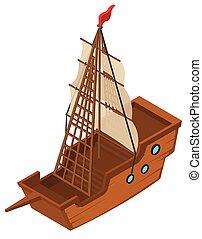 3D design for sailing ship