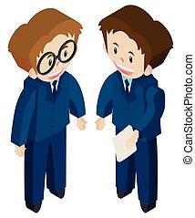 3D design for two businessmen