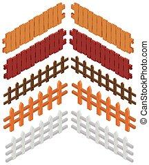 3D design for wooden fences